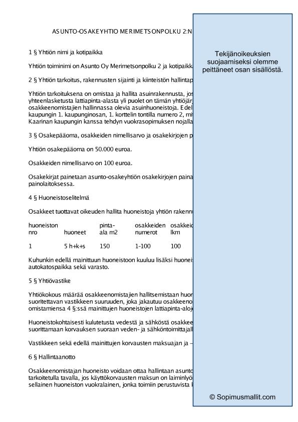 Vakiomuotoinen Tilintarkastuskertomus Malli